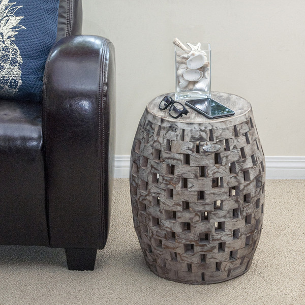 Grapevine Recycled Wood Stool
