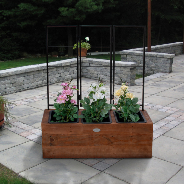 Recycled Wood & Metal Trellis