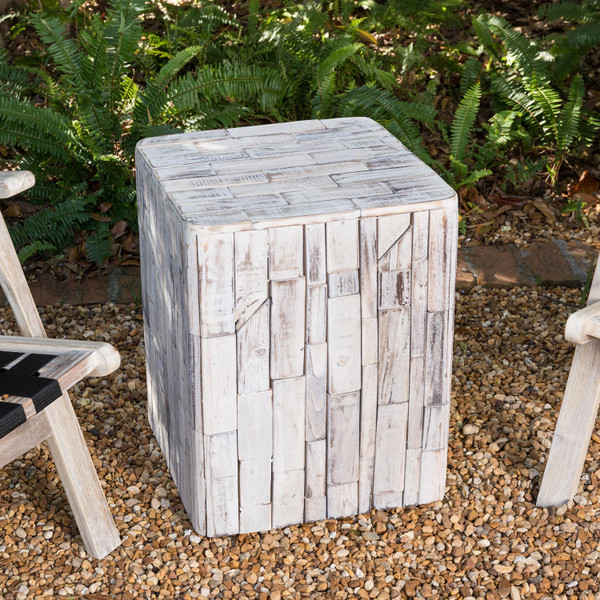 Tami Square Wood Plant Stand