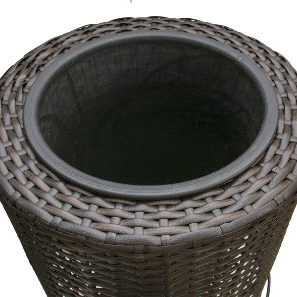 """14"""" Resin Wicker Planter with stand"""
