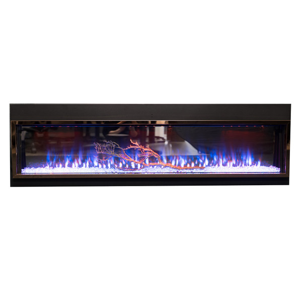 Resin branch for fireplace
