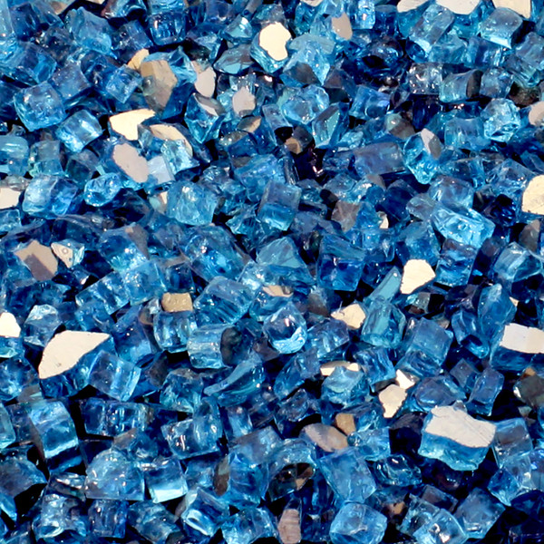 Luminous Catalina Blue Fire Glass