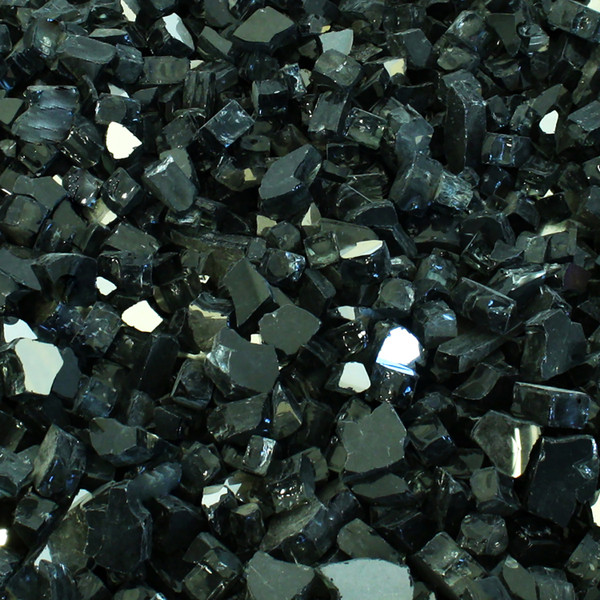 Luminous Black Fire Glass