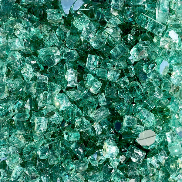 Luminous Sea Green Fire Glass