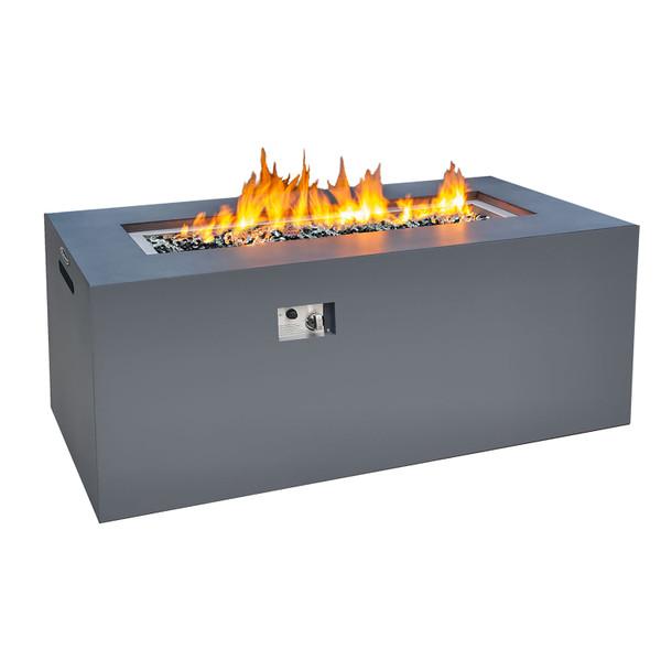 concrete look aluminum firepit