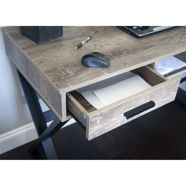 Industrial-Look Desk with drawers