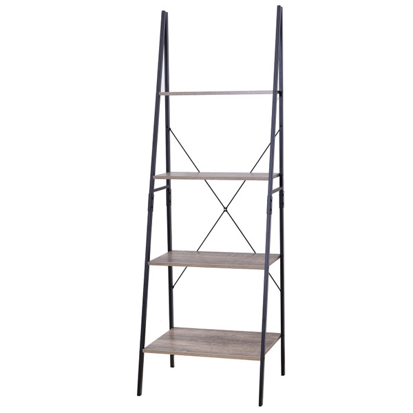 Industrial Look Ladder Shelf