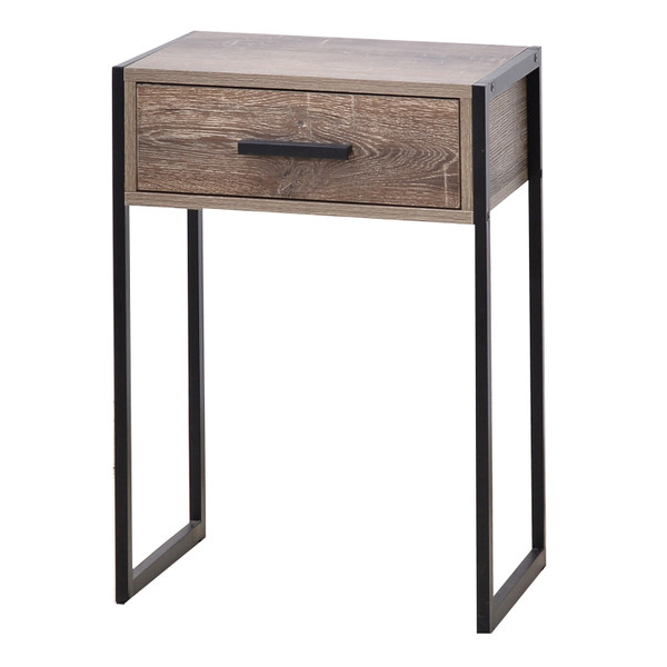 Industrial Look Side Table