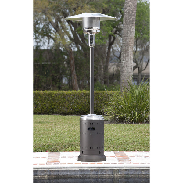 Mocha and Stainless Patio Heater