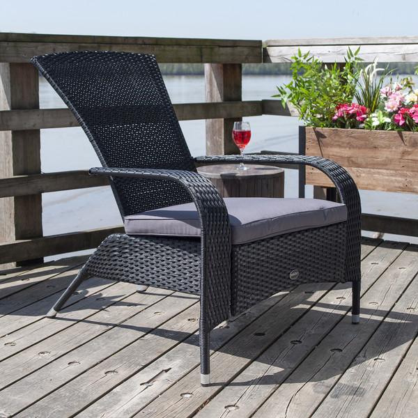 Black Comfort Height Muskoka Chair