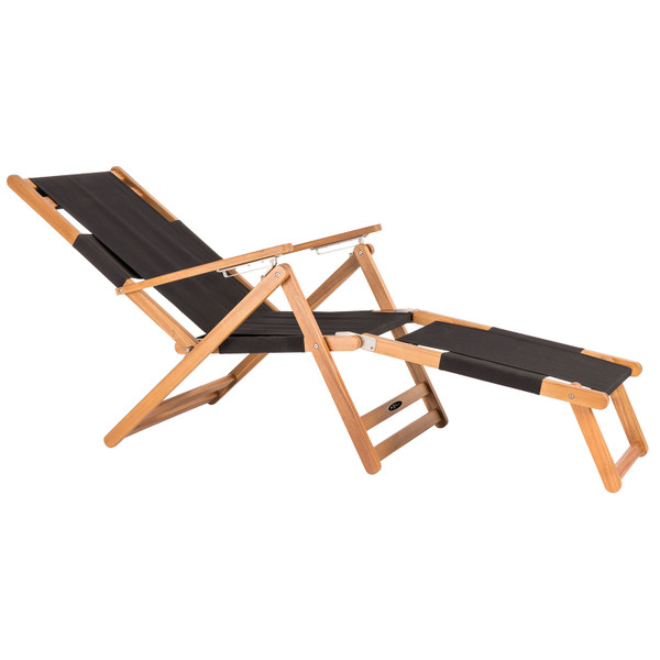 Black folding beach chair