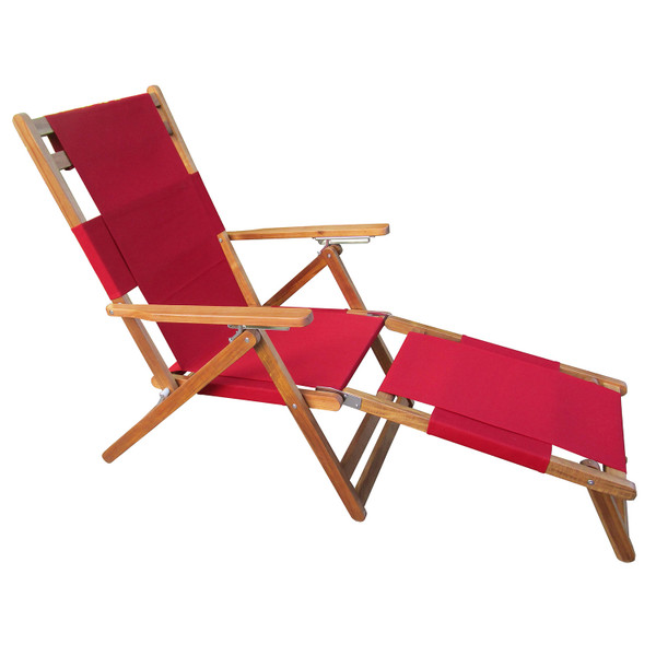 Red folding beach chair