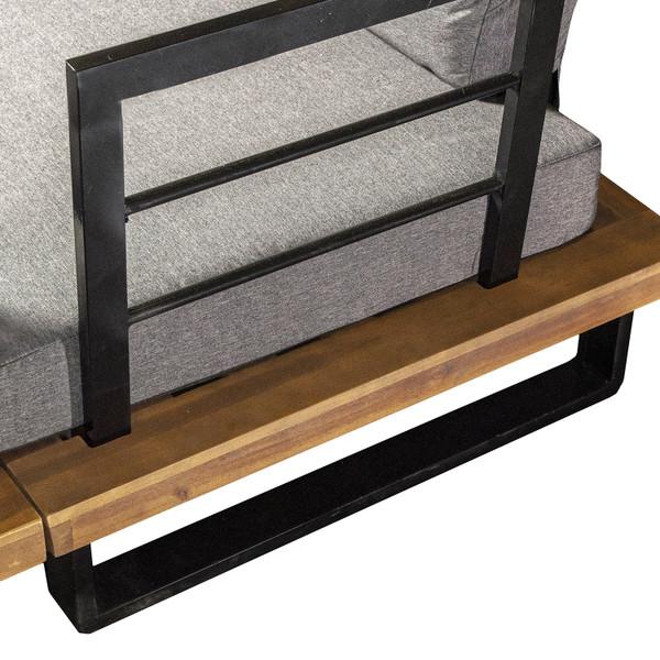 Acacia Wood Corner Sofa Set