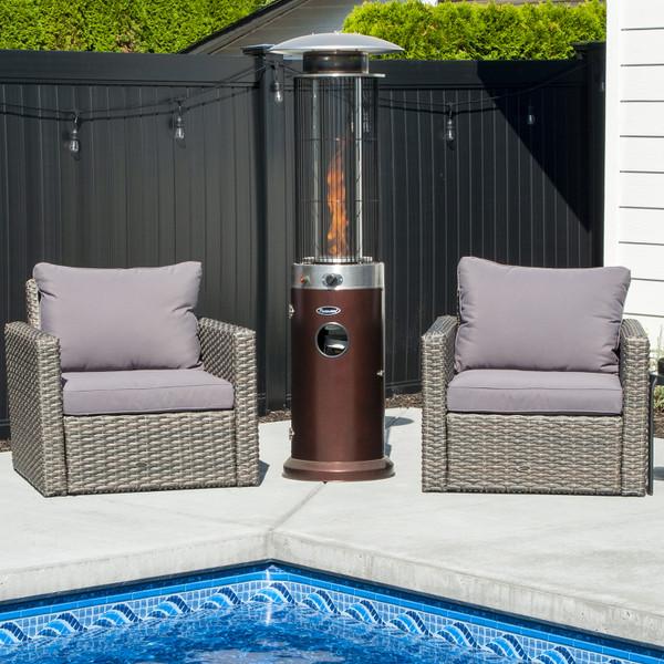 Venturi Spiral Flame Heater, Bronze