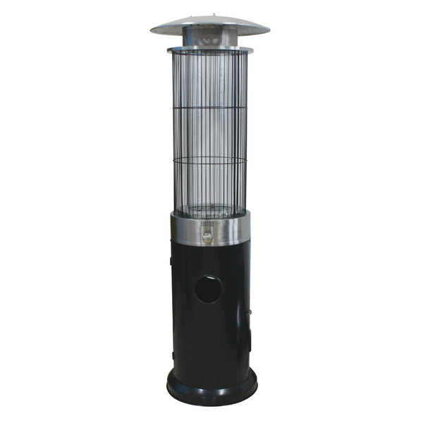 Venturi Spiral Flame Heater, Black