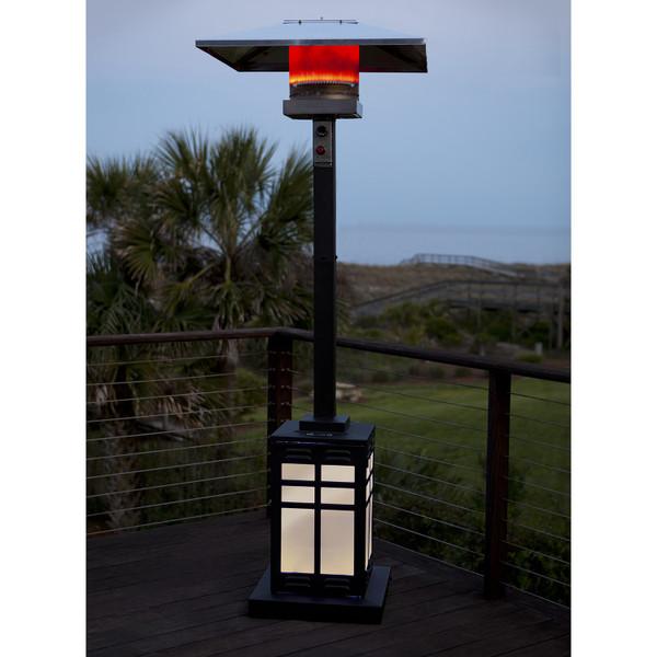 Illuminated Mission Patio Heater